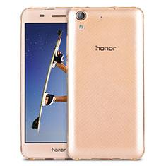 Etui Ultra Slim Silicone Souple Transparente pour Huawei Y6 II 5.5 Or