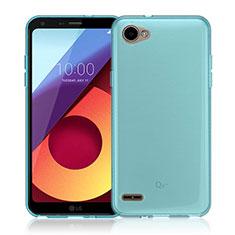 Etui Ultra Slim Silicone Souple Transparente pour LG Q6 Bleu