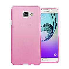 Etui Ultra Slim Silicone Souple Transparente pour Samsung Galaxy A7 (2016) A7100 Rose