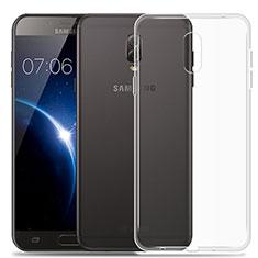 Etui Ultra Slim Silicone Souple Transparente pour Samsung Galaxy J7 Plus Clair