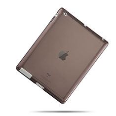 Etui Ultra Slim TPU Souple Transparente pour Apple iPad 3 Gris