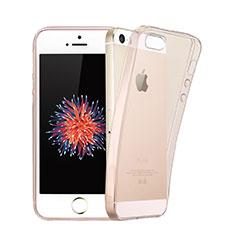 Etui Ultra Slim TPU Souple Transparente pour Apple iPhone 5 Rose