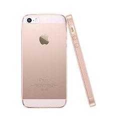 Etui Ultra Slim TPU Souple Transparente pour Apple iPhone 5S Rose