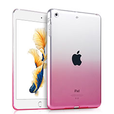 Etui Ultra Slim Transparente Souple Degrade pour Apple iPad Air Rose