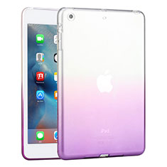 Etui Ultra Slim Transparente Souple Degrade pour Apple iPad Mini 3 Violet