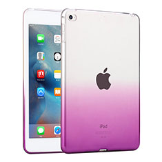 Etui Ultra Slim Transparente Souple Degrade pour Apple iPad Mini 4 Violet