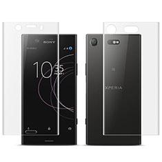 Film Protecteur d'Ecran Avant et Arriere pour Sony Xperia XZ1 Compact Clair