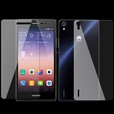 Film Protecteur d'Ecran Avant et Arriere Verre Trempe pour Huawei P7 Dual SIM Clair