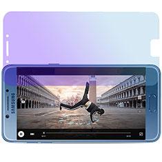 Film Protecteur d'Ecran Verre Trempe Anti-Lumiere Bleue pour Samsung Galaxy C7 Pro C7010 Bleu