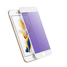 Film Protecteur d'Ecran Verre Trempe Integrale Anti-Lumiere Bleue pour Apple iPhone 6 Plus Blanc