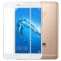 Film Protecteur d'Ecran Verre Trempe Integrale F02 pour Huawei Y7 Prime Blanc