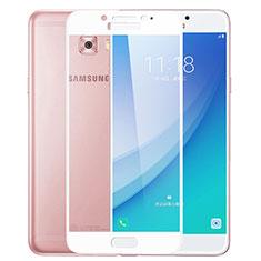 Film Protecteur d'Ecran Verre Trempe Integrale F02 pour Samsung Galaxy C7 Pro C7010 Blanc