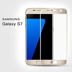 Film Protecteur d'Ecran Verre Trempe Integrale F02 pour Samsung Galaxy S7 G930F G930FD Or