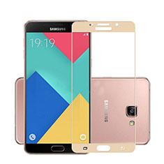 Film Protecteur d'Ecran Verre Trempe Integrale pour Samsung Galaxy A7 (2016) A7100 Or