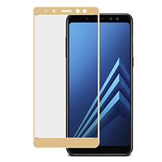Film Protecteur d'Ecran Verre Trempe Integrale pour Samsung Galaxy A8+ A8 Plus (2018) Duos A730F Or