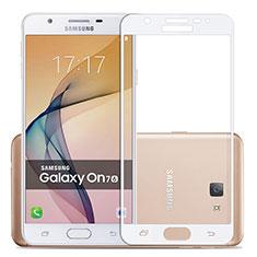 Film Protecteur d'Ecran Verre Trempe Integrale pour Samsung Galaxy J7 Prime Blanc
