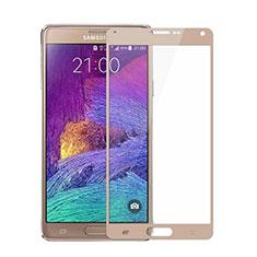 Film Protecteur d'Ecran Verre Trempe Integrale pour Samsung Galaxy Note 4 SM-N910F Or