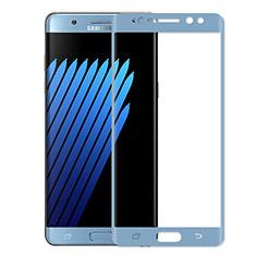 Film Protecteur d'Ecran Verre Trempe Integrale pour Samsung Galaxy Note 7 Bleu