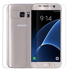 Film Protection Protecteur d'Ecran Avant et Arriere Verre Trempe pour Samsung Galaxy S7 G930F G930FD Clair