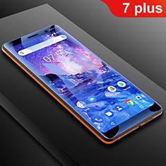 Film Protection Protecteur d'Ecran Integrale Anti-Lumiere Bleue B01 pour Nokia 7 Plus Clair