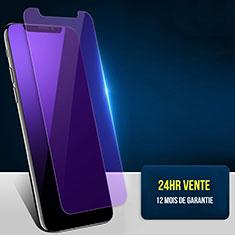 Film Protection Protecteur d'Ecran Verre Trempe Anti-Lumiere Bleue B02 pour Apple iPhone Xs Bleu