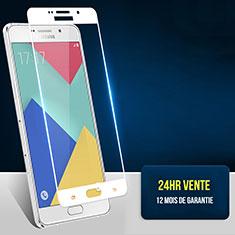 Film Protection Protecteur d'Ecran Verre Trempe Integrale F02 pour Samsung Galaxy A7 (2016) A7100 Blanc