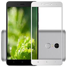 Film Protection Protecteur d'Ecran Verre Trempe Integrale F03 pour Xiaomi Redmi Note 4X Blanc
