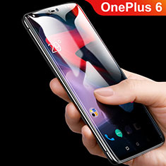 Film Protection Protecteur d'Ecran Verre Trempe Integrale F08 pour OnePlus 6 Noir