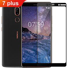Film Protection Protecteur d'Ecran Verre Trempe Integrale pour Nokia 7 Plus Noir