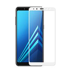 Film Protection Protecteur d'Ecran Verre Trempe Integrale pour Samsung Galaxy A8 (2018) A530F Blanc