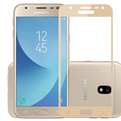 Film Protection Protecteur d'Ecran Verre Trempe Integrale pour Samsung Galaxy J3 Pro (2017) Or