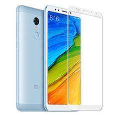 Film Protection Protecteur d'Ecran Verre Trempe Integrale pour Xiaomi Redmi 5 Plus Blanc