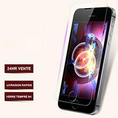 Film Protection Verre Trempe Protecteur d'Ecran T06 pour Apple iPhone 5S Clair