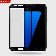 Film Verre Trempe Protecteur d'Ecran 3D pour Samsung Galaxy S7 Edge G935F Noir
