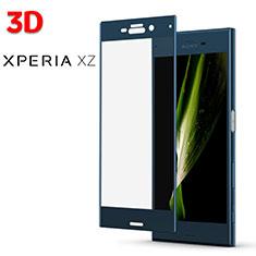 Film Verre Trempe Protecteur d'Ecran 3D pour Sony Xperia XZ Bleu