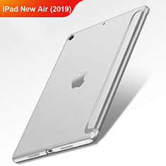 Housse Clapet Portefeuille Livre Cuir L01 pour Apple iPad Air 3 Argent