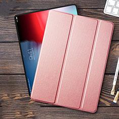 Housse Clapet Portefeuille Livre Cuir L01 pour Apple iPad Pro 12.9 (2018) Rose
