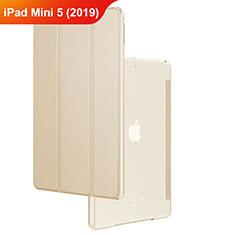 Housse Clapet Portefeuille Livre Cuir pour Apple iPad Mini 5 (2019) Or