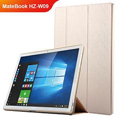 Housse Clapet Portefeuille Livre Cuir pour Huawei MateBook HZ-W09 Or