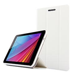 Housse Clapet Portefeuille Livre Cuir pour Huawei Mediapad T1 7.0 T1-701 T1-701U Blanc