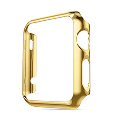 Housse Contour Luxe Aluminum Metal pour Apple iWatch 42mm Or