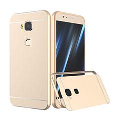 Housse Contour Luxe Aluminum Metal pour Huawei G7 Plus Or