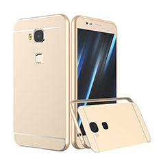 Housse Contour Luxe Aluminum Metal pour Huawei G8 Or
