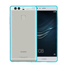 Housse Contour Luxe Aluminum Metal pour Huawei P9 Plus Bleu Ciel