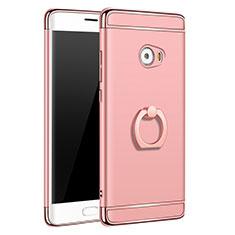 Housse Contour Luxe Metal et Plastique avec Support Bague Anneau pour Xiaomi Mi Note 2 Special Edition Or Rose