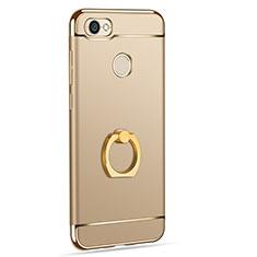 Housse Contour Luxe Metal et Plastique avec Support Bague Anneau pour Xiaomi Redmi Note 5A Prime Or
