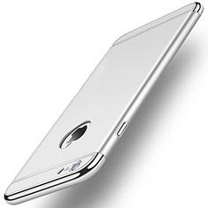Housse Contour Luxe Metal et Plastique M01 pour Apple iPhone 6S Plus Argent
