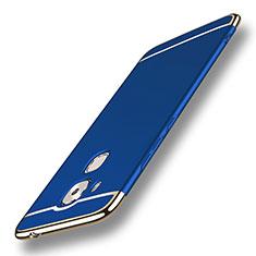 Housse Contour Luxe Metal et Plastique M01 pour Huawei Nova Plus Bleu