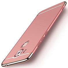 Housse Contour Luxe Metal et Plastique M01 pour Huawei Nova Plus Or Rose