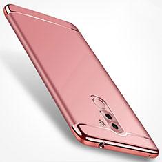 Housse Contour Luxe Metal et Plastique M02 pour Huawei Honor 6X Or Rose